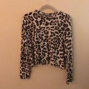 Bershka Cheetah Print Sweater